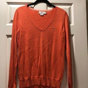 Vineyard Vines classic V-neck sweater coral